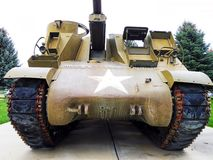 A self propelled howitzer. Believe to be WW2 era M7 Royalty Free Stock Photo