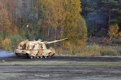 Self-propelled howitzer Stock Photos