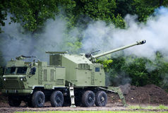Self-propelled howitzers Royalty Free Stock Photos