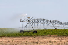 Self-propelled irrigation system Stock Photo