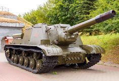 Self-propelled ISU - 152 in the Brest Fortress. Stock Photography