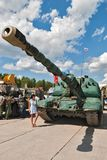 Self-propelled 152 mm howitzer 2S19 MSTA-S Stock Image