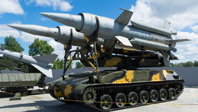 Self-propelled rocket installation. An exhibit of a historical museum Russia Ekaterinburg Royalty Free Stock Photos