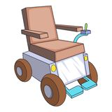 Self-propelled wheelchair icon, cartoon style Royalty Free Stock Photography
