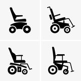 Self propelled wheelchairs. Available in high-resolution and several sizes to fit the needs of your project Royalty Free Stock Photography