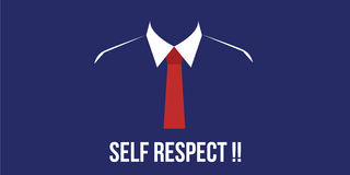 Self respect confidence person with suit red tie Stock Image