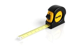 Self-retracting tape measure Royalty Free Stock Photos