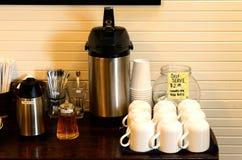 Self Serve Coffee Stock Photo