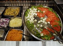 Self-serve salad bar Stock Images
