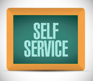 Self service board sign illustration design Royalty Free Stock Images