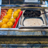 Self-service buffet with cold breakfast Stock Photography
