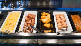 Self-service buffet with meals for breakfast Royalty Free Stock Images