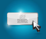 Self service button illustration design Stock Images