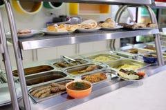 Self-service cafe showcase Royalty Free Stock Photos