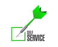 self service check dart illustration design Royalty Free Stock Photography