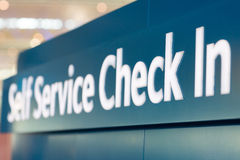 Self service check in Stock Image