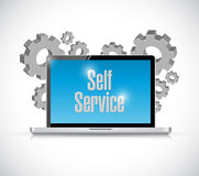 Self service computer technology illustration Stock Image