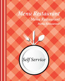 Self Service Cover Menu Stock Photography