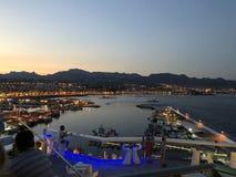 Self-service di EL Faro nel ³ n, Spagna di Puerto de Mazarrà immagini stock