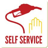 Self service gas station sign Royalty Free Stock Image