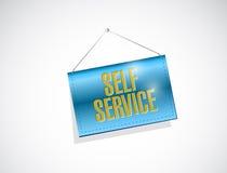 Self service hanging banner illustration Stock Images