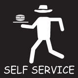 Self service label Royalty Free Stock Photography