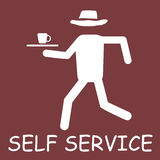 Self service label Stock Photos