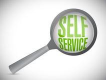 self service magnify glass illustration Stock Photo