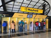 Self service at Maybank, Malaysia royalty free stock image