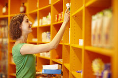 Self service in pharmacy Stock Photos