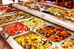 Self service salad bar. With a variety of salads and side dishes Royalty Free Stock Images