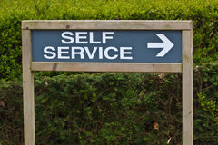 Self service sign Royalty Free Stock Photo