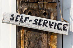 Self service sign Stock Image