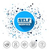 Self service sign icon. Maintenance button. Stock Image