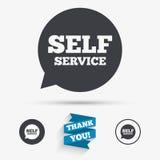 Self service sign icon. Maintenance symbol. Royalty Free Stock Photo