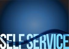 self service sign wave blue illustration Stock Image