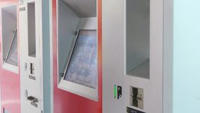 Self service ticket machine video Stock Images