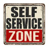 Self service zone vintage rusty metal sign. On a white background, vector illustration vector illustration