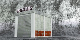 Self storage. 3d illustration of a self storage unit Stock Photos