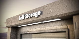 Self storage Royalty Free Stock Photo