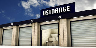 Self storage Stock Image