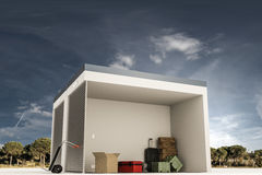 Self storage section Stock Photography