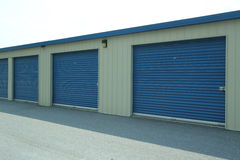 Self Storage Units. For personal storage of items in a secure locked facility royalty free stock photos
