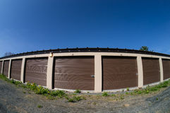 Self Storage Units - Fisheye View Stock Photo