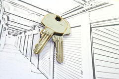 Self Storage Units with keys Royalty Free Stock Photography