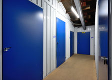 Self storage units. A row of self storage units Stock Image