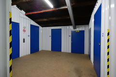 Self storage units. A row of self storage units Stock Photography