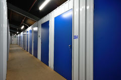 Self storage units. A row of self storage units Royalty Free Stock Image