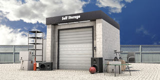 Self storage Royalty Free Stock Images