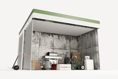 Self storge units section Stock Image